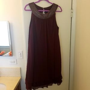 Maxi purple dress